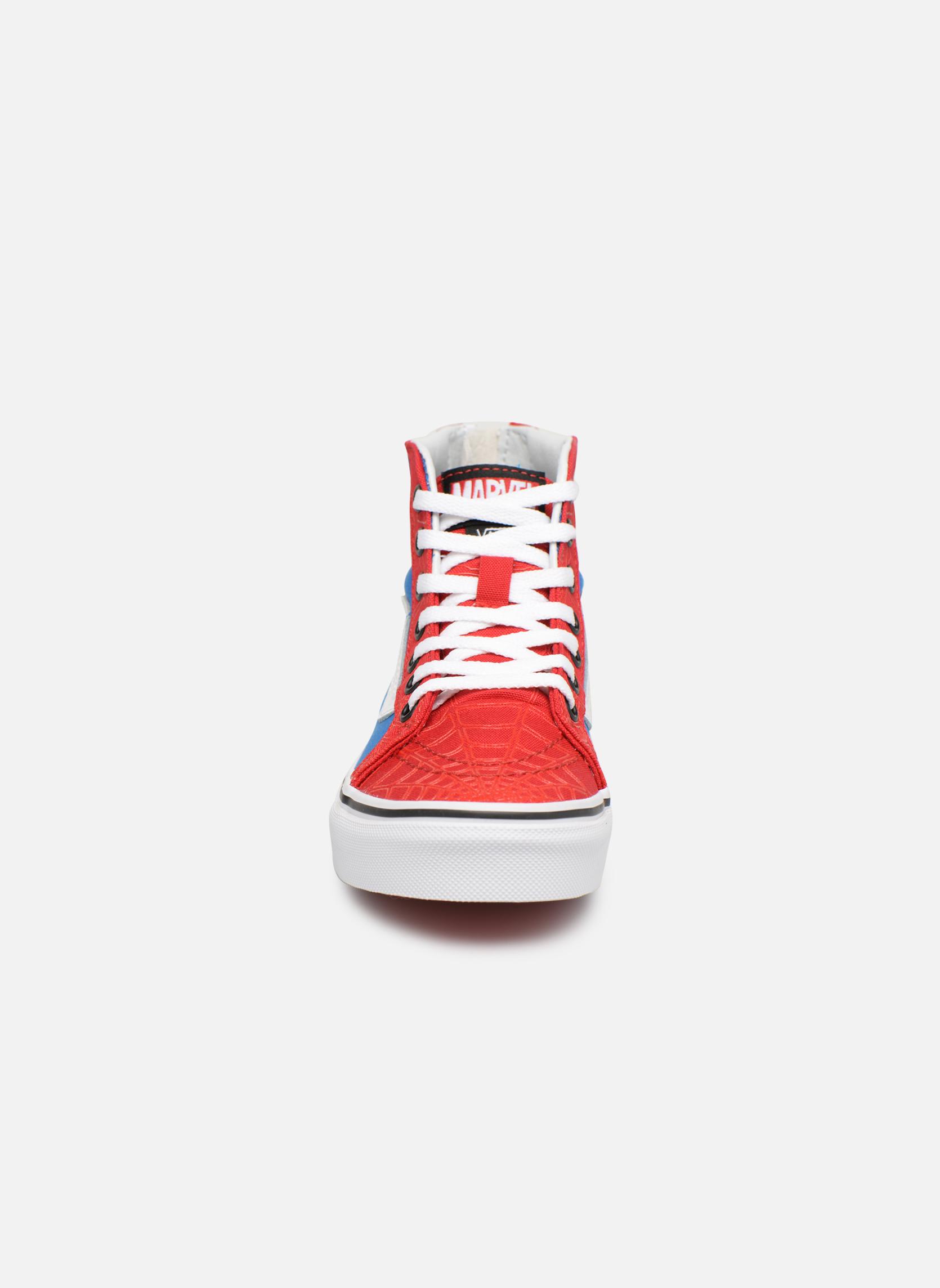 Baskets Vans SK8-Hi Zip Rouge vue portées chaussures