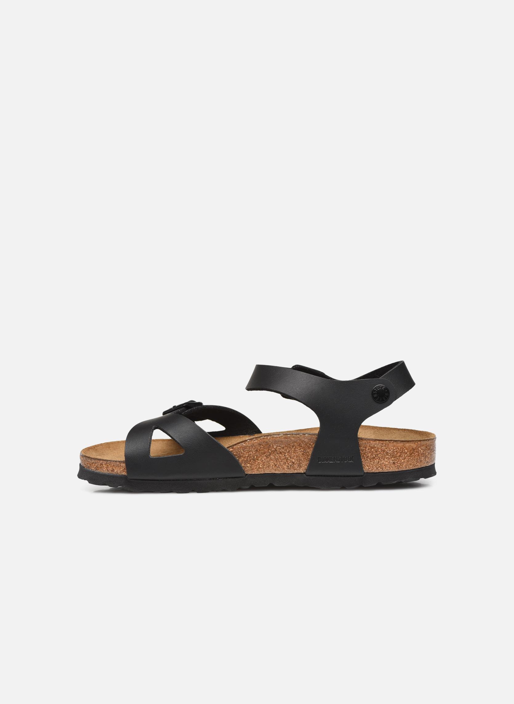 Sandals Birkenstock Rio Flor W Black front view