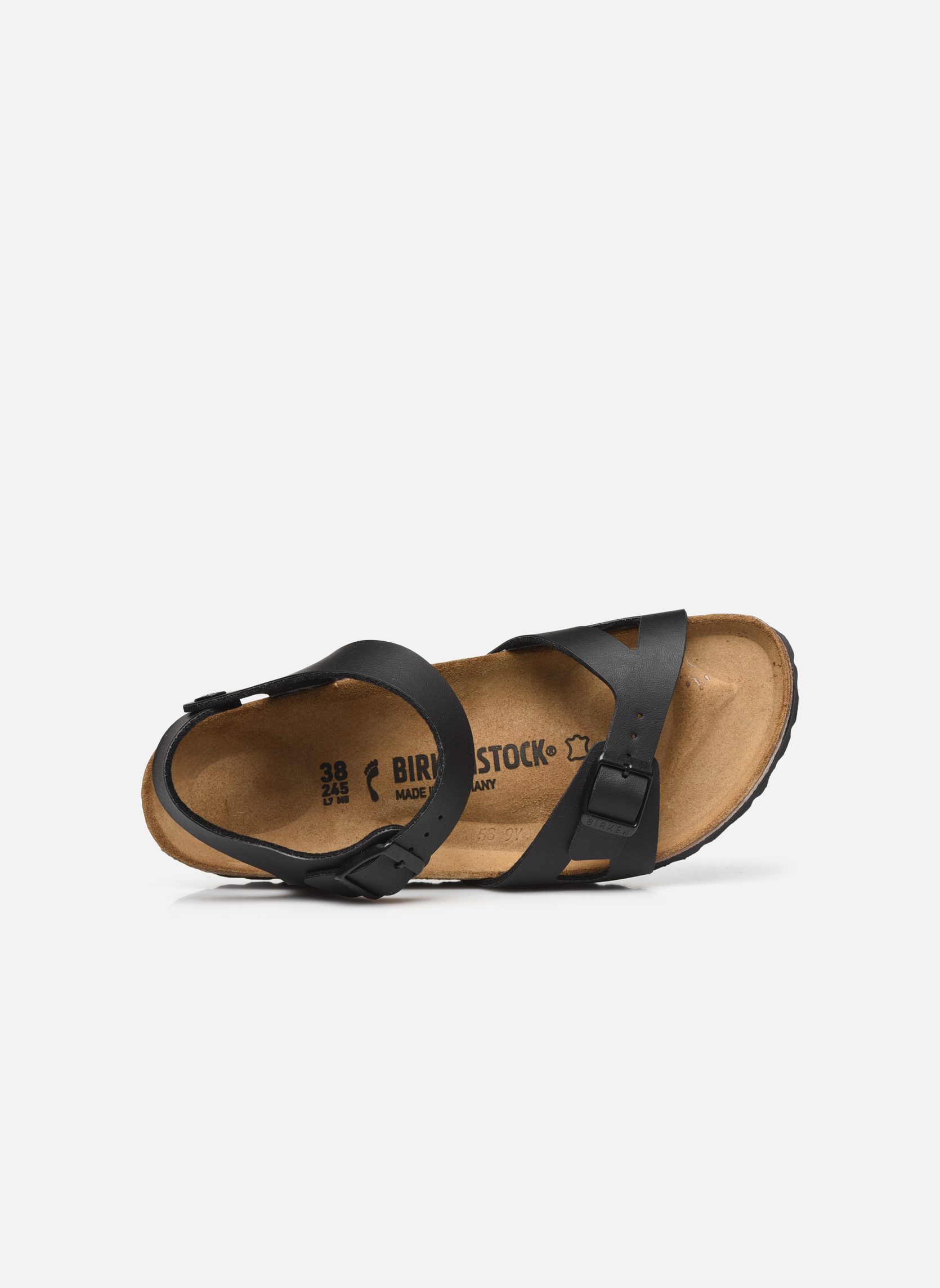 Sandals Birkenstock Rio Flor W Black view from the left