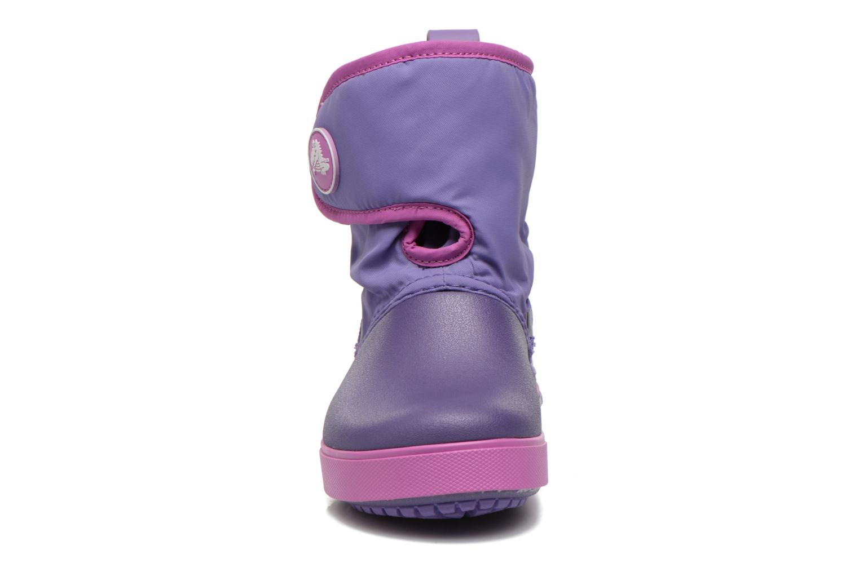Bottes Crocs Crocband II.5 Gust Boot Kids Violet vue portées chaussures