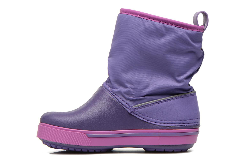 Boots & wellies Crocs Crocband II.5 Gust Boot Kids Purple front view