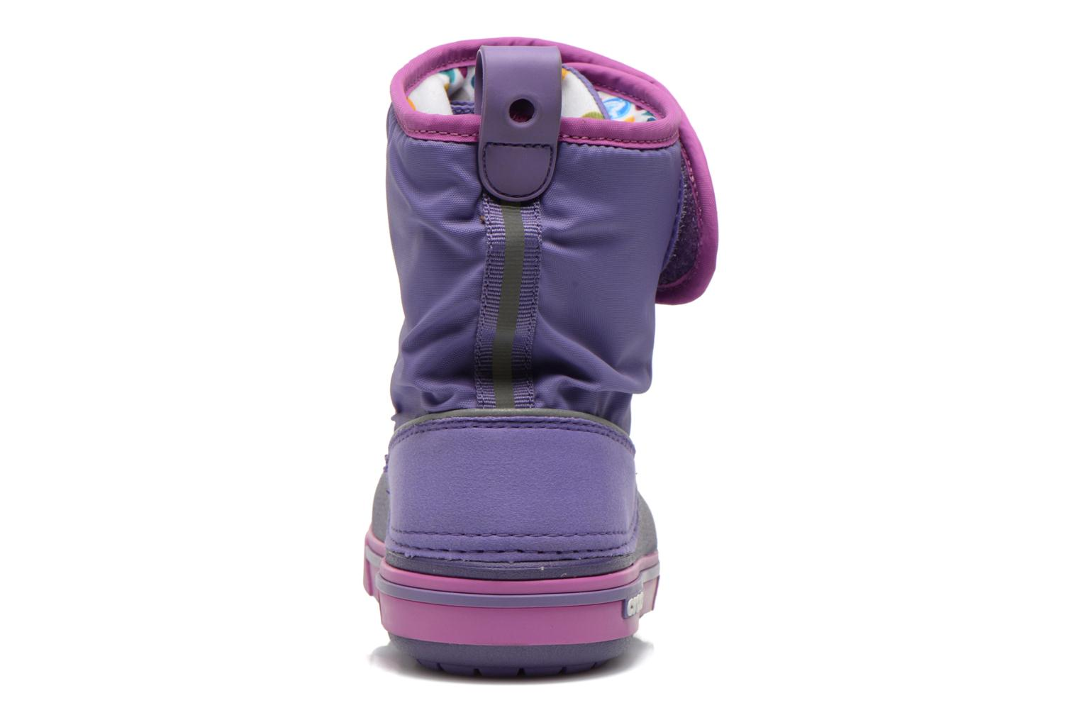 Boots & wellies Crocs Crocband II.5 Gust Boot Kids Purple view from the right