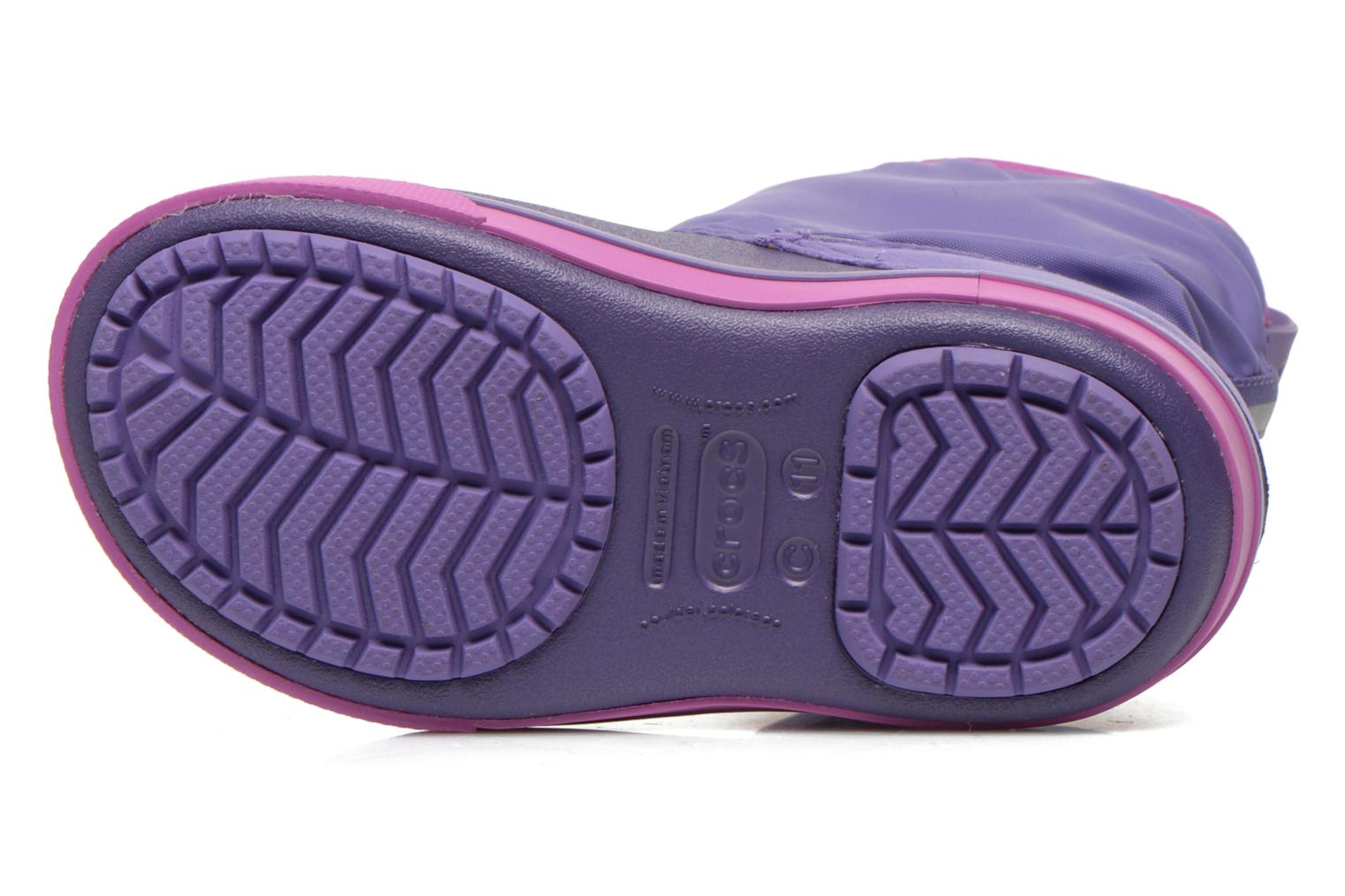 Boots & wellies Crocs Crocband II.5 Gust Boot Kids Purple view from above