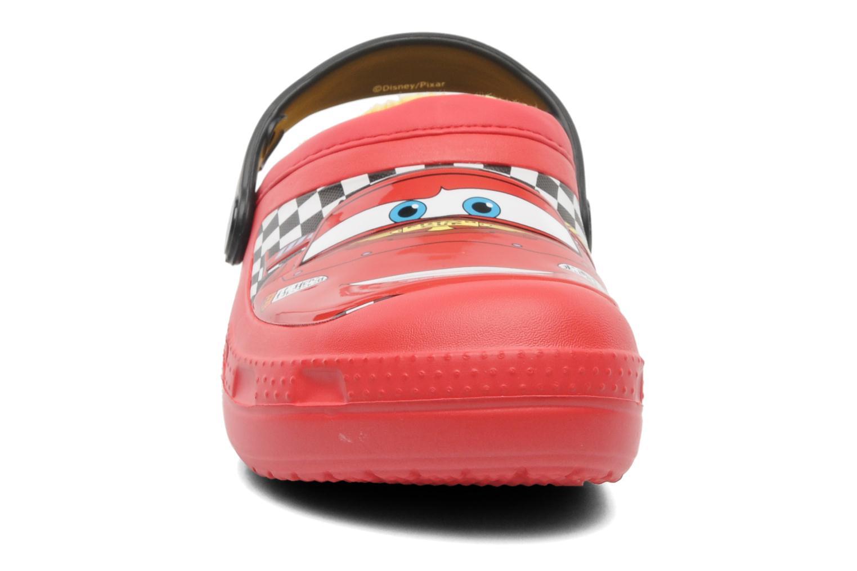 Sandales et nu-pieds Crocs CC McQueen Lined Clog Rouge vue portées chaussures