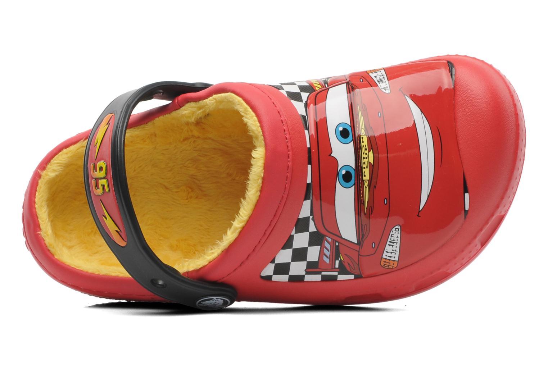 Sandales et nu-pieds Crocs CC McQueen Lined Clog Rouge vue gauche
