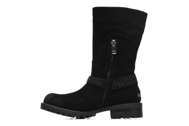 Bottines et boots Liu Jo Biker haut Clio Strass Noir vue face