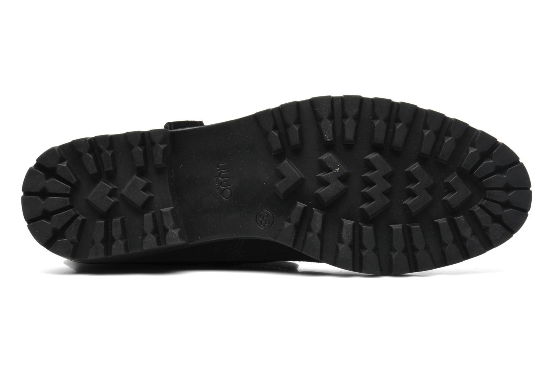 Bottines et boots Liu Jo Biker haut Clio Strass Noir vue haut