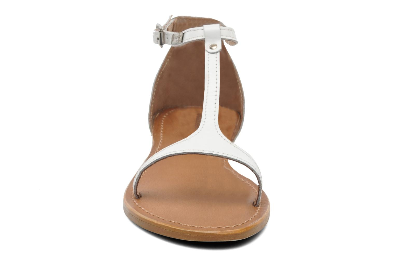 Sandales et nu-pieds Les Tropéziennes par M Belarbi Trefle Blanc vue portées chaussures