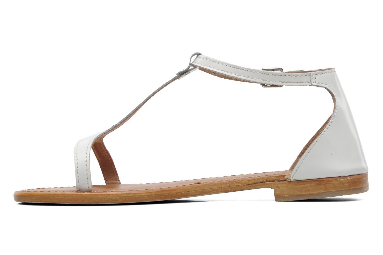Sandales et nu-pieds Les Tropéziennes par M Belarbi Trefle Blanc vue face