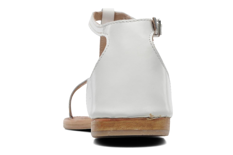 Sandales et nu-pieds Les Tropéziennes par M Belarbi Trefle Blanc vue droite