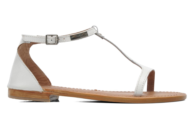 Sandales et nu-pieds Les Tropéziennes par M Belarbi Trefle Blanc vue derrière