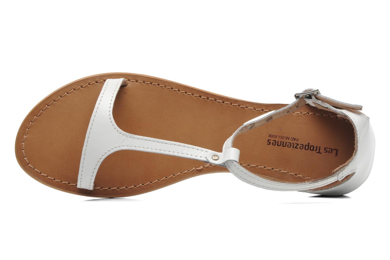 Sandales et nu-pieds Les Tropéziennes par M Belarbi Trefle Blanc vue gauche