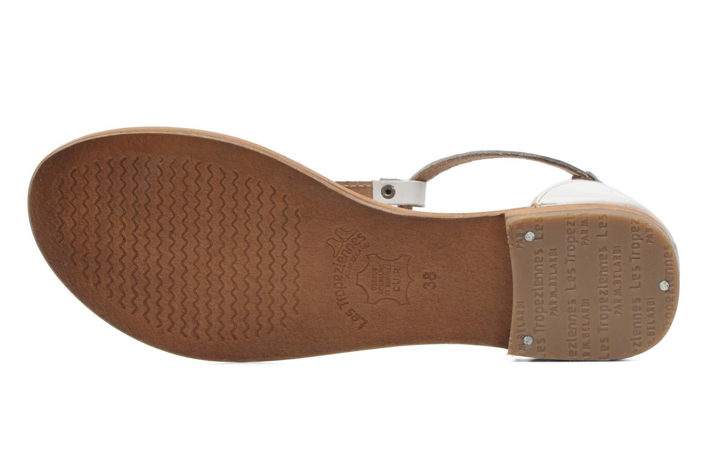 Sandales et nu-pieds Les Tropéziennes par M Belarbi Trefle Blanc vue haut