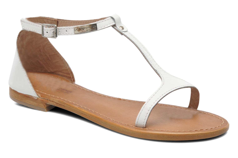 Sandales et nu-pieds Les Tropéziennes par M Belarbi Trefle Blanc vue détail/paire
