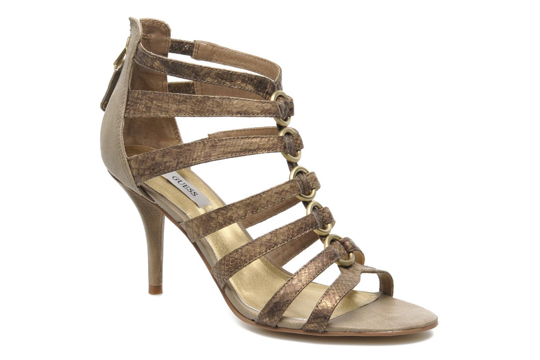 Sandalias Guess Gina Oro y bronce vista de detalle / par