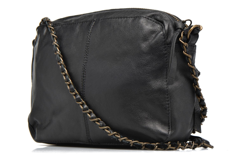 Handtassen Pieces Naina leather Crossover new Zwart rechts