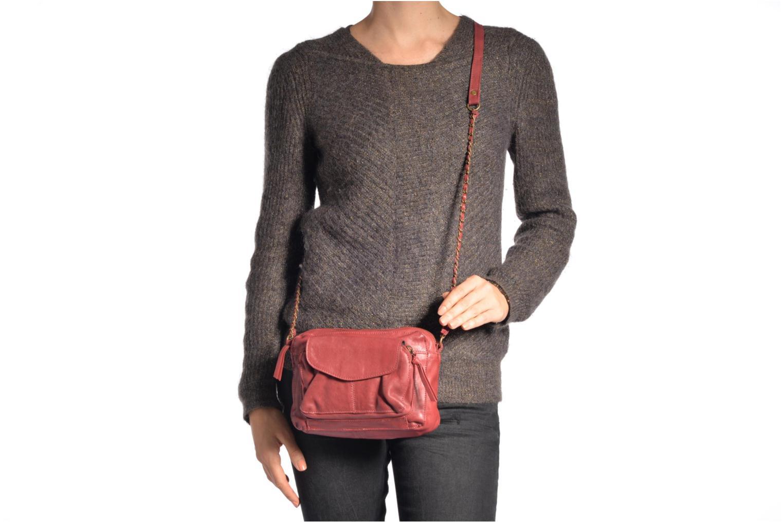 Handtassen Pieces Naina leather Crossover new Zwart boven