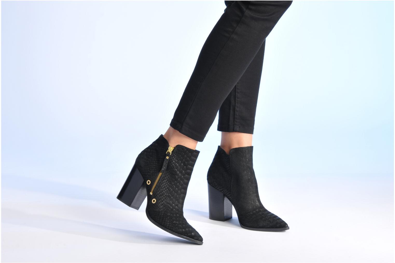 Bottines et boots Made by SARENZA Bataclan #2 Noir vue bas / vue portée sac