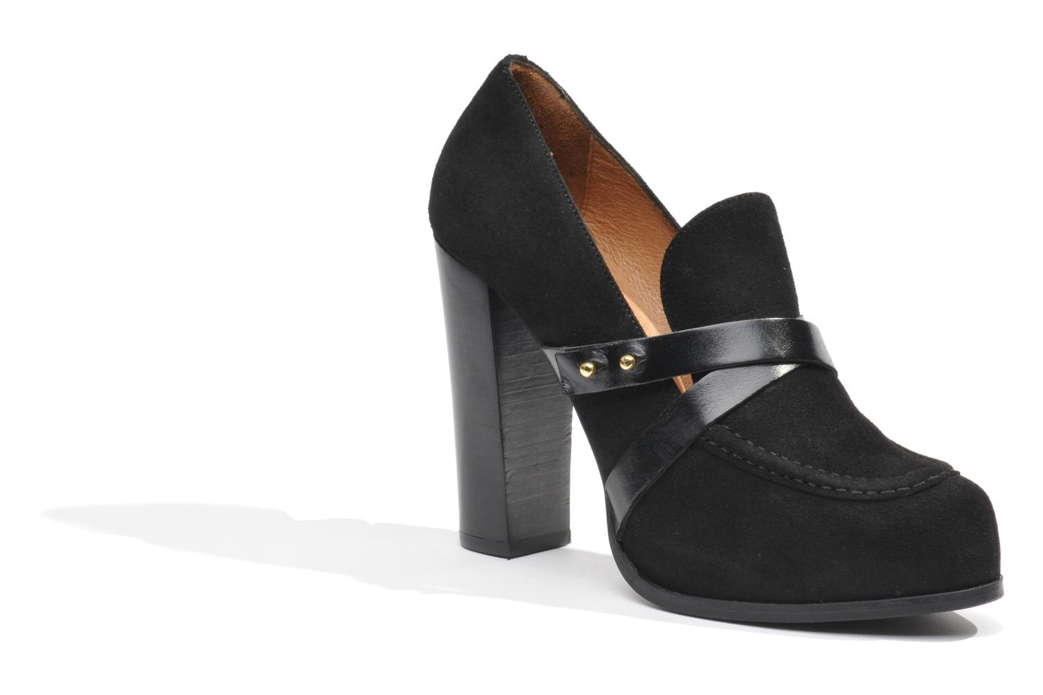 Loafers Made by SARENZA Rue des Dames #2 Black view from the right