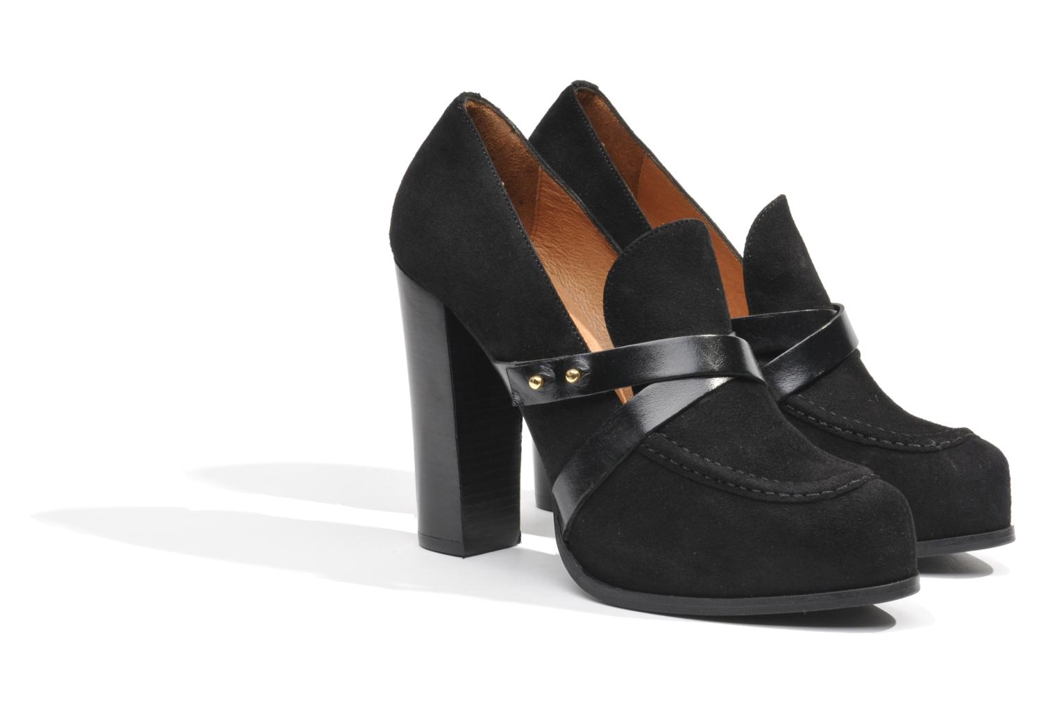 Loafers Made by SARENZA Rue des Dames #2 Black back view