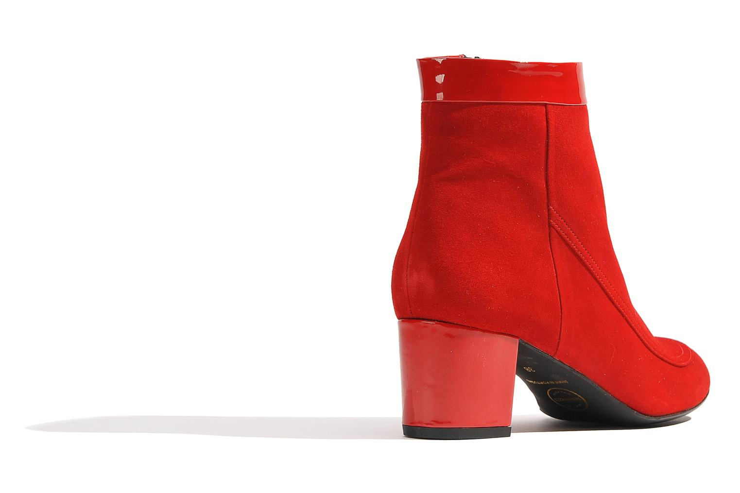 Ankle boots Made by SARENZA Queens Cross #17 Red front view