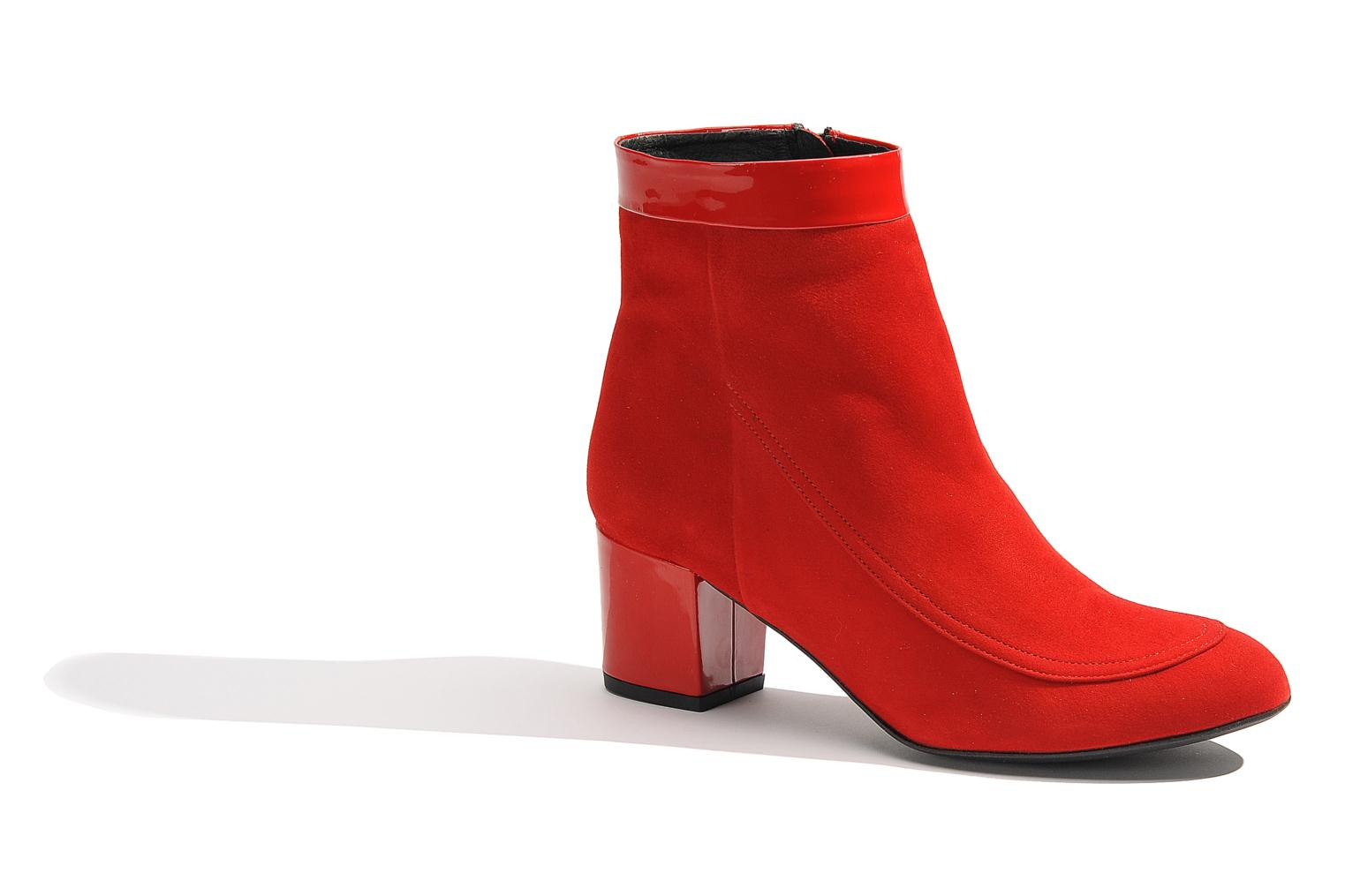 Ankle boots Made by SARENZA Queens Cross #17 Red view from the right