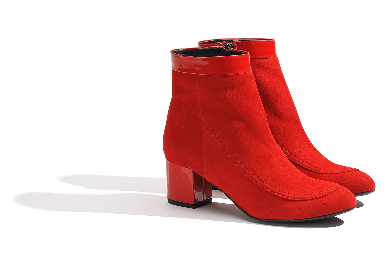 Ankle boots Made by SARENZA Queens Cross #17 Red back view