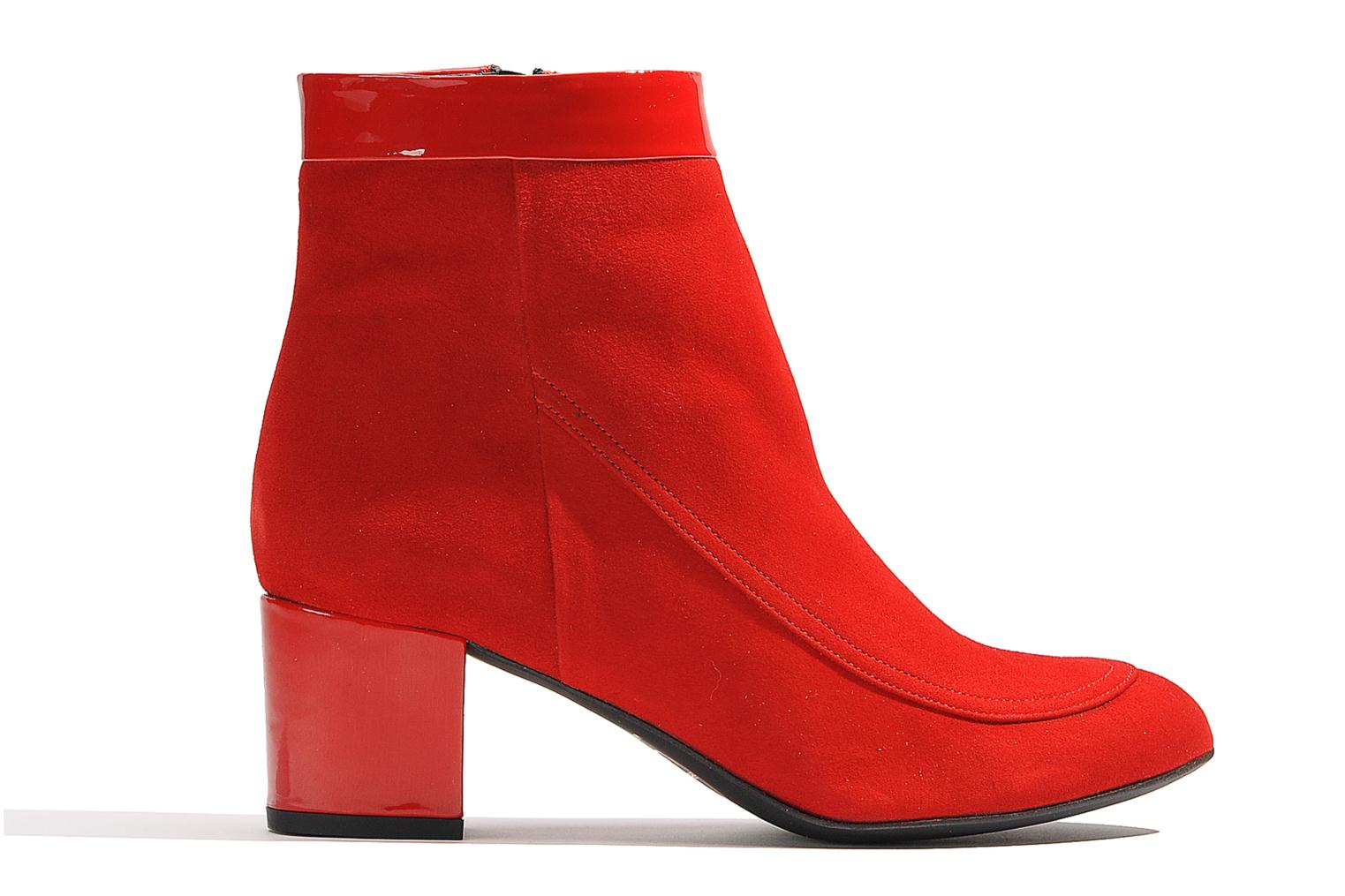 Ankle boots Made by SARENZA Queens Cross #17 Red detailed view/ Pair view
