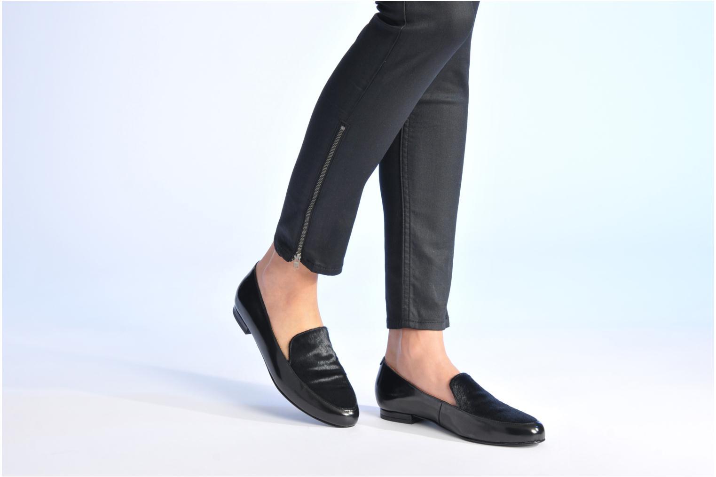Slipper Made by SARENZA Café With Colette #1 schwarz ansicht von unten / tasche getragen