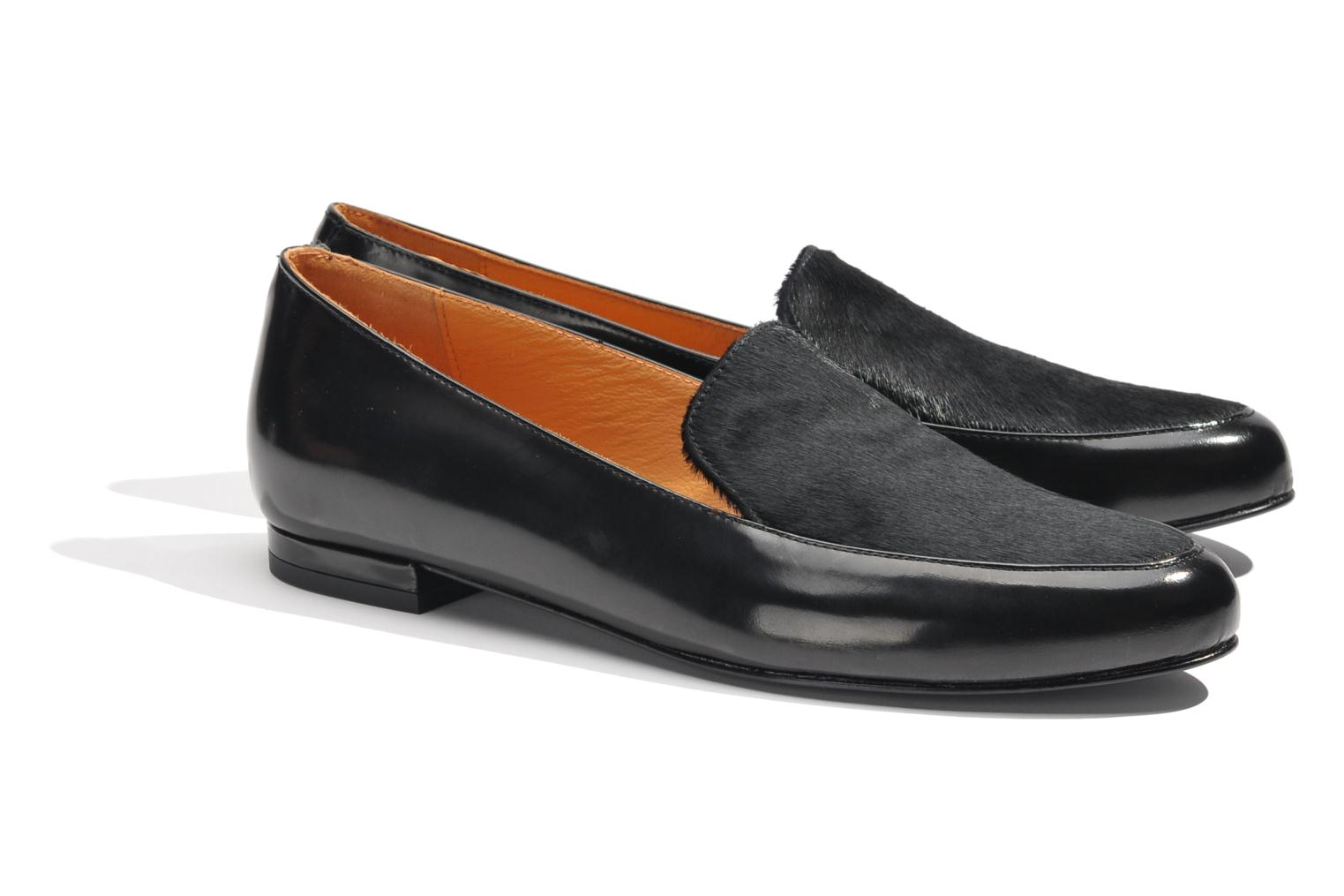 Loafers Made by SARENZA Café With Colette #1 Black back view