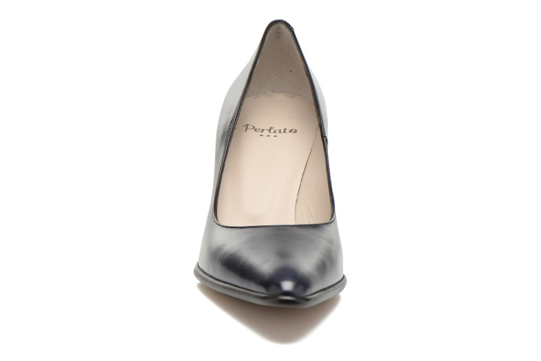 Escarpins Perlato Piaza Bleu vue portées chaussures