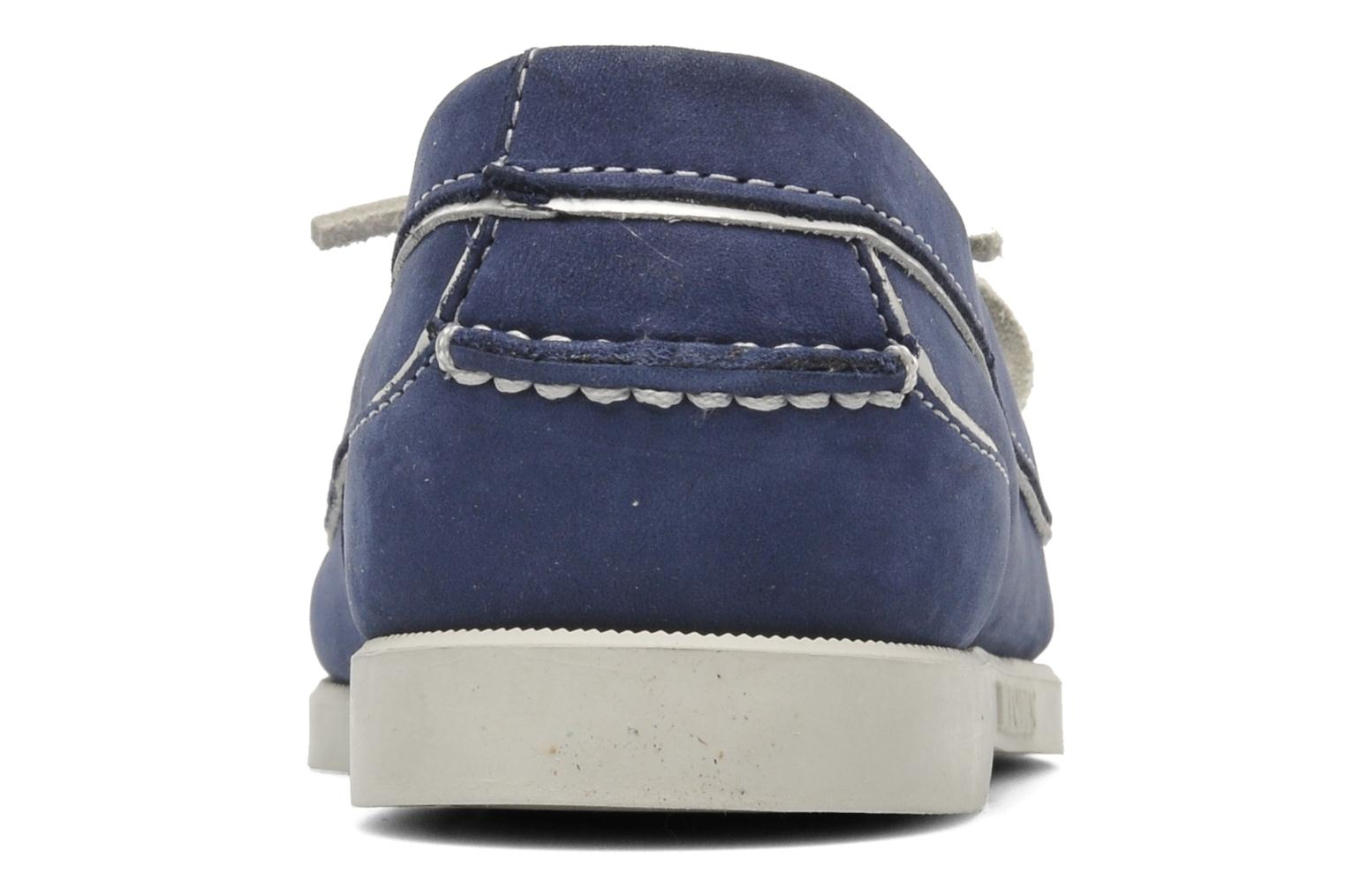 Loafers Sebago Docksides Twoeye Blue view from the right