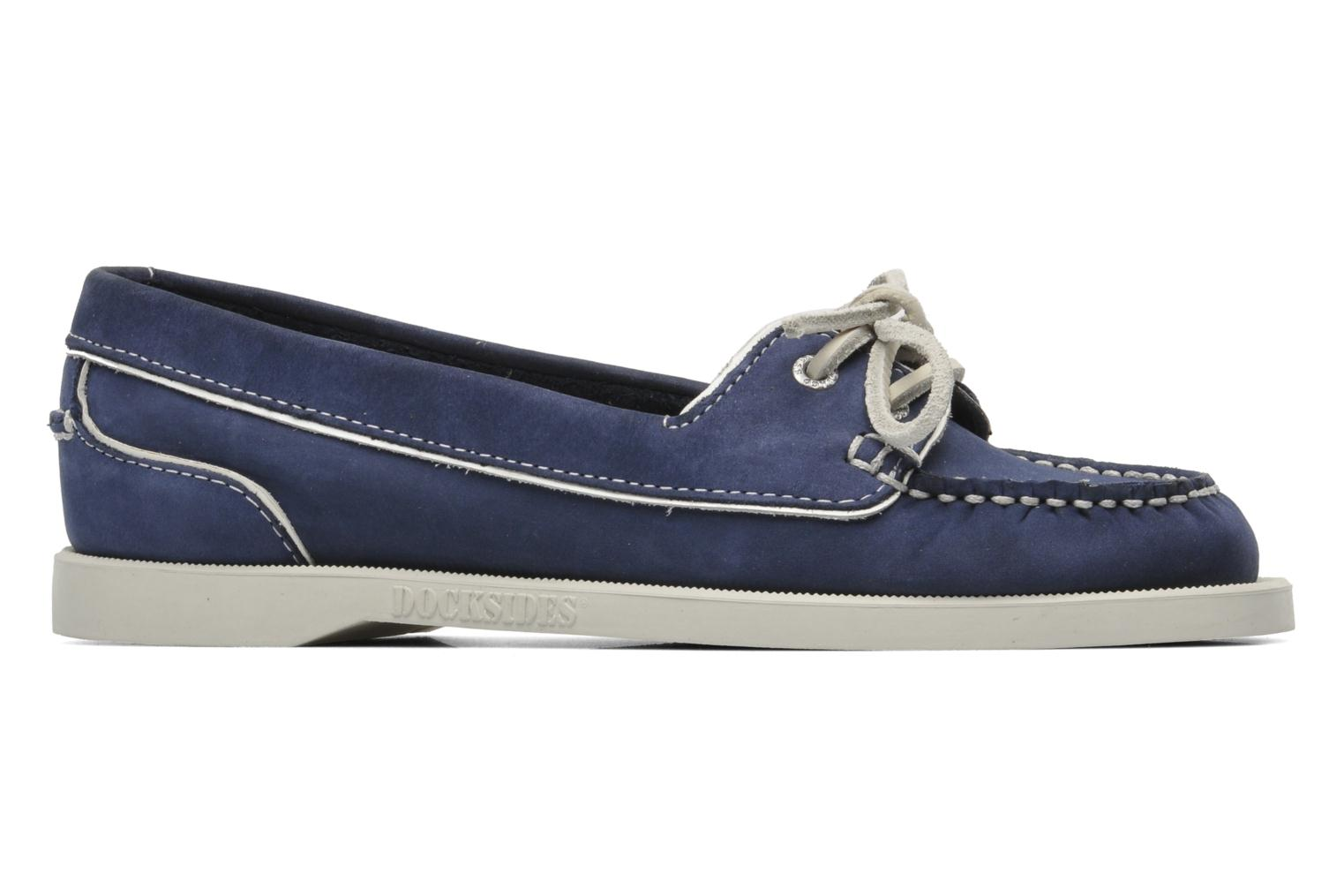 Loafers Sebago Docksides Twoeye Blue back view