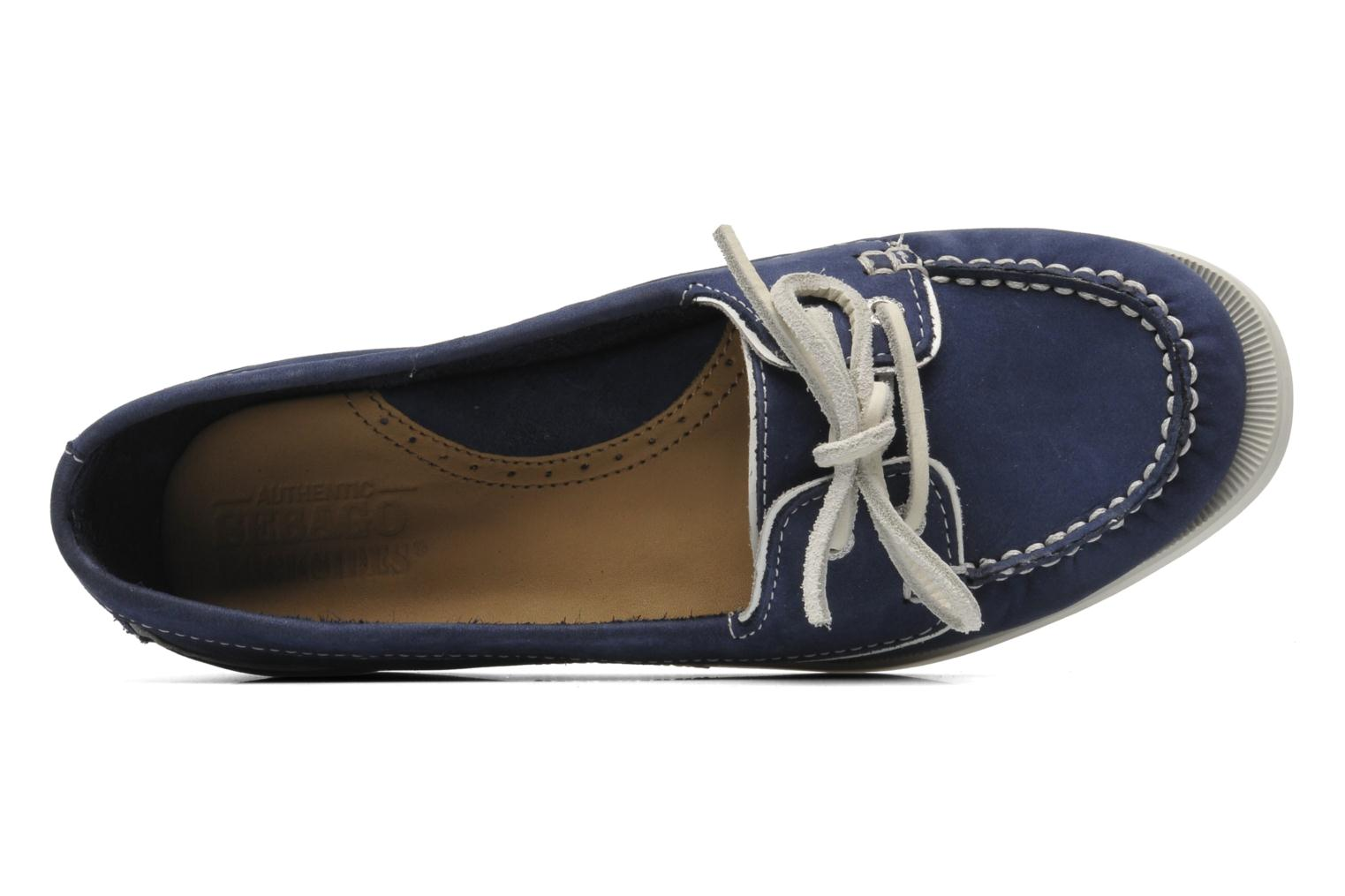 Loafers Sebago Docksides Twoeye Blue view from the left