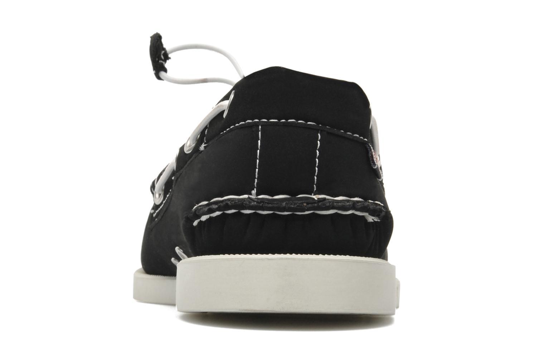 Snörade skor Sebago Docksides neoprene Svart Bild från höger sidan