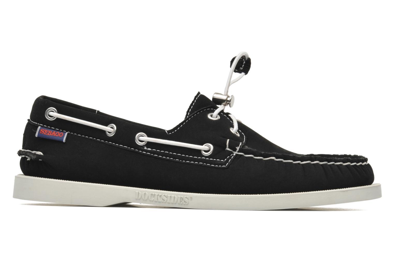 Snörade skor Sebago Docksides neoprene Svart bild från baksidan