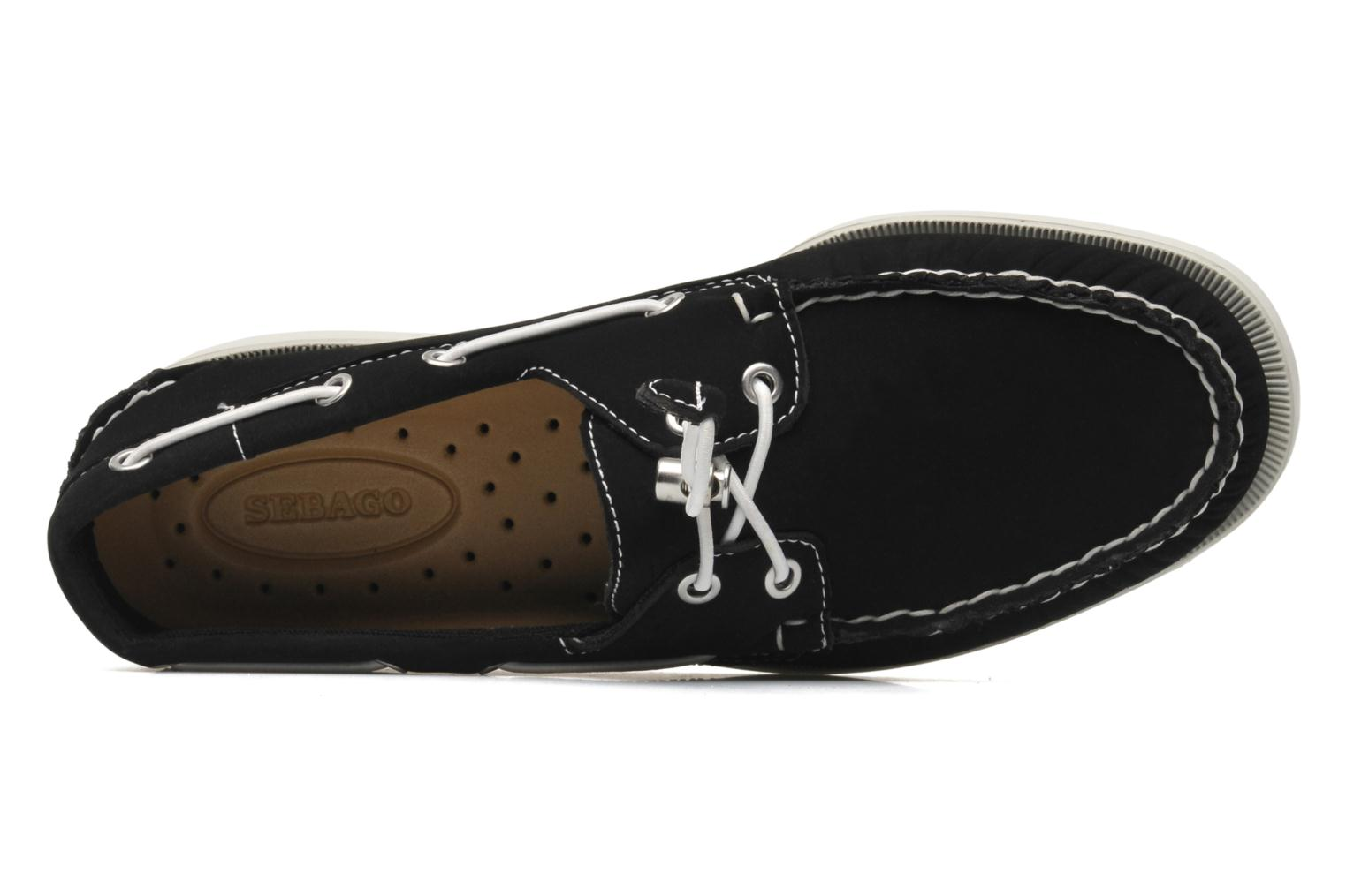 Veterschoenen Sebago Docksides neoprene Zwart links