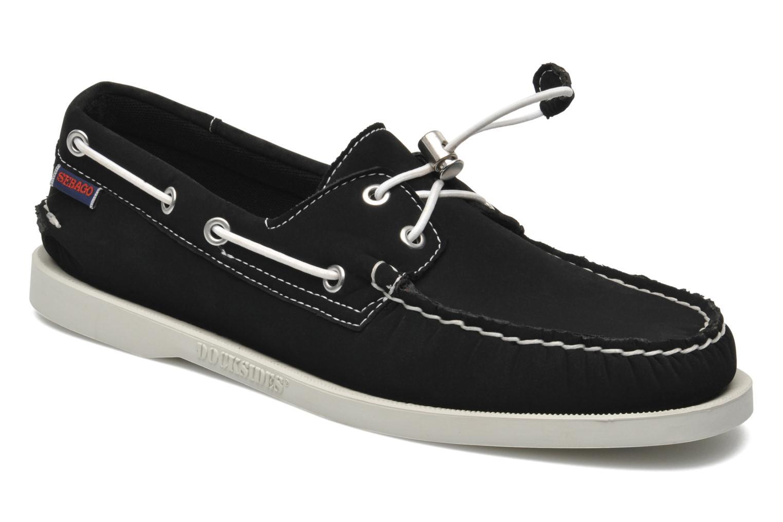 Snörade skor Sebago Docksides neoprene Svart detaljerad bild på paret