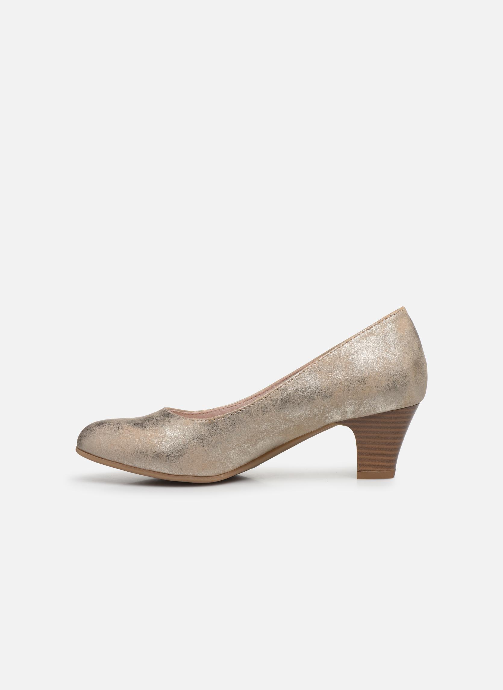 Høje hæle Jana shoes Anis Guld og bronze se forfra