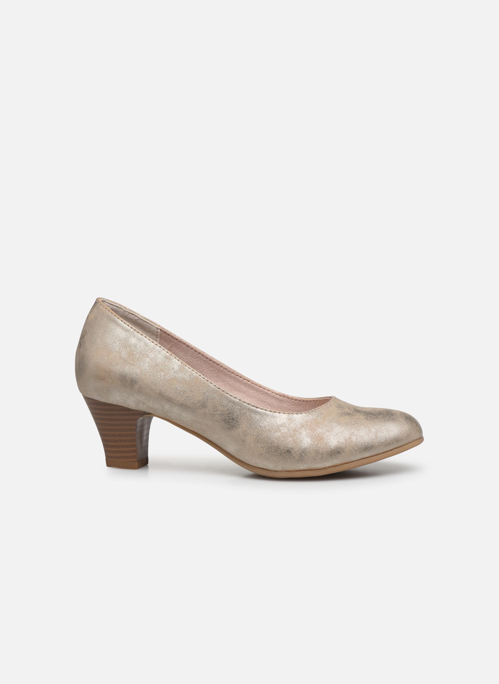 Høje hæle Jana shoes Anis Guld og bronze se bagfra
