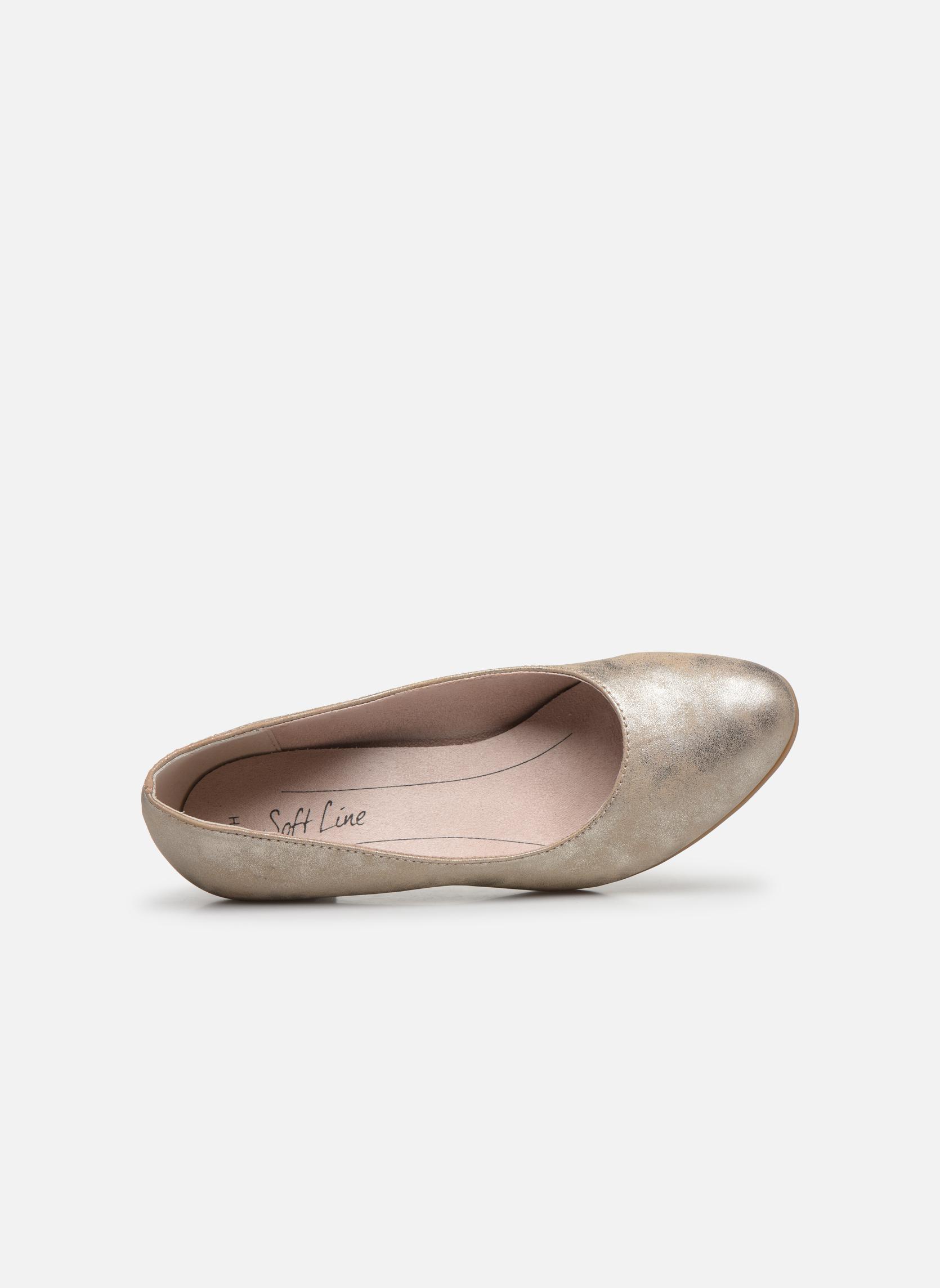 Høje hæle Jana shoes Anis Guld og bronze se fra venstre