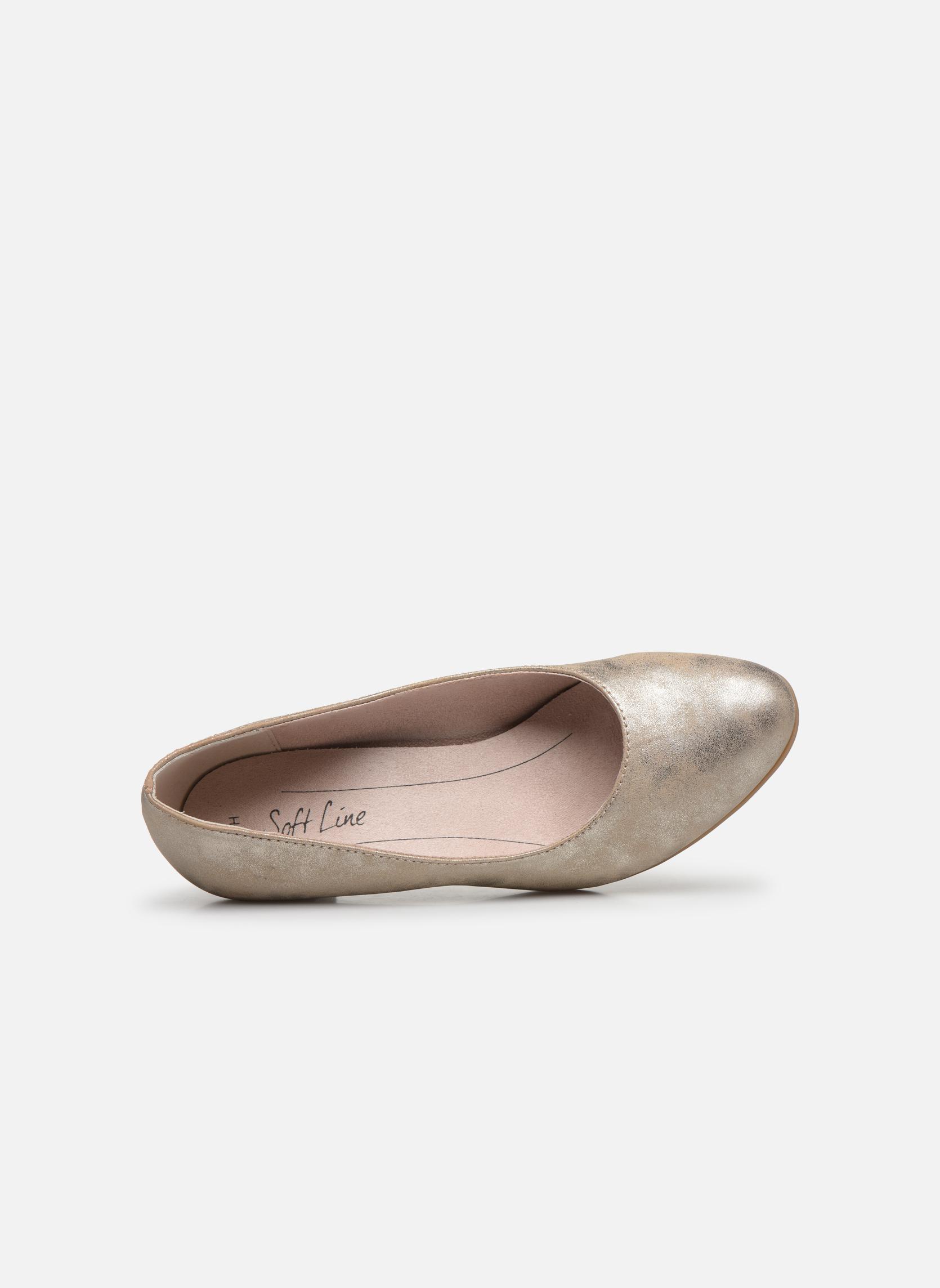 Pumps Jana shoes Anis gold/bronze ansicht von links