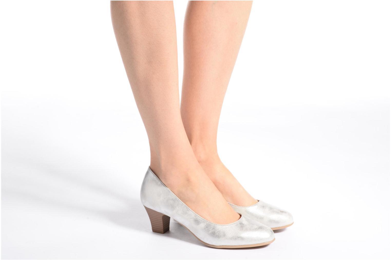 Escarpins Jana shoes Anis Beige vue bas / vue portée sac