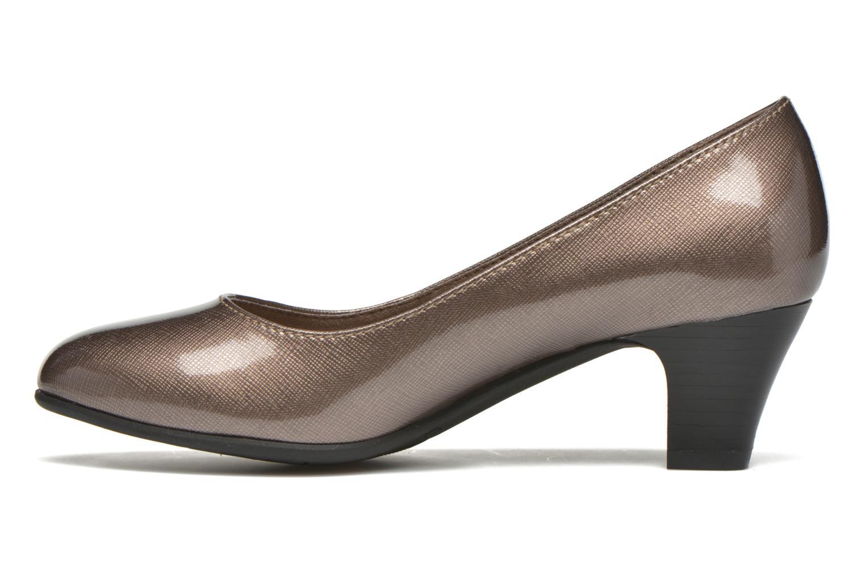 Zapatos de tacón Jana shoes Anis Beige vista de frente