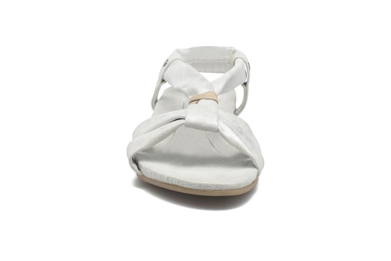 Sandalen Jana shoes Jana silber schuhe getragen