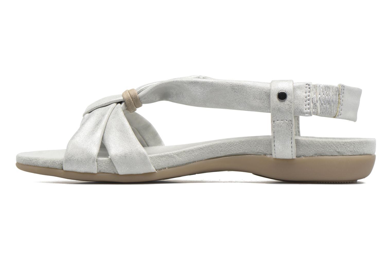 Sandalen Jana shoes Jana silber ansicht von vorne