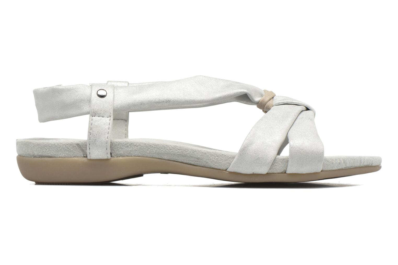 Sandalen Jana shoes Jana silber ansicht von hinten