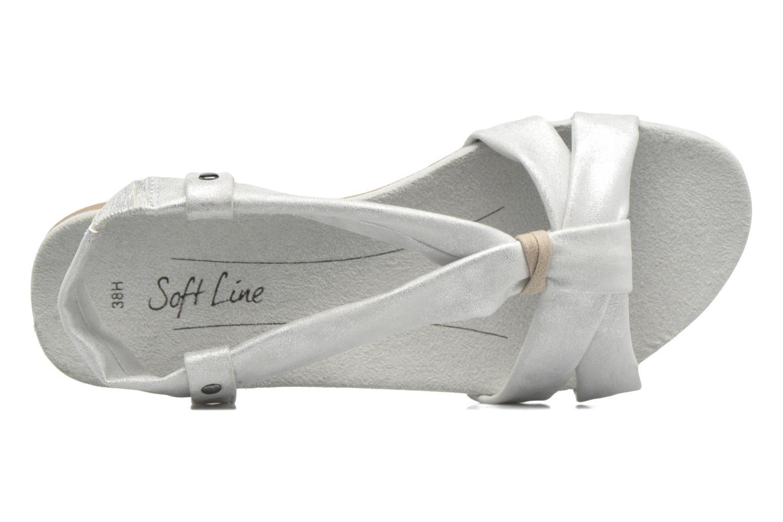 Sandalias Jana shoes Jana Plateado vista lateral izquierda