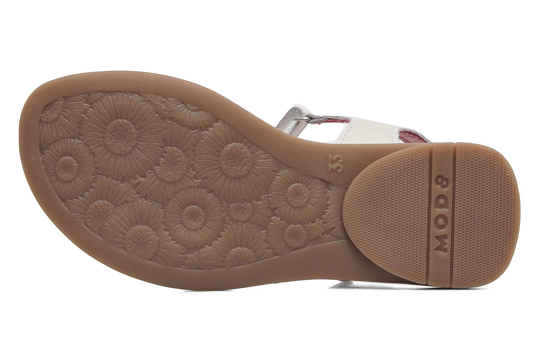 Sandales et nu-pieds Mod8 Jalouse E Blanc vue haut