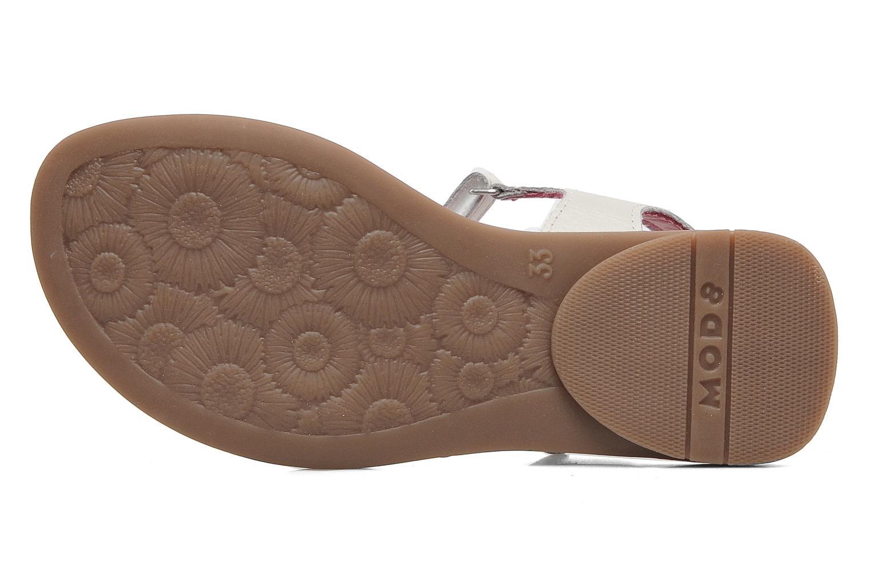 Sandalen Mod8 Jalouse E weiß ansicht von oben